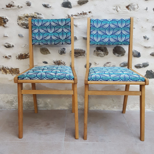 atelierktlele- Paire de chaises 60's jungle
